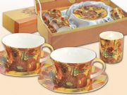 CARMANI Art Collection - Fancy Set of 2 cup and candle Van Gogh